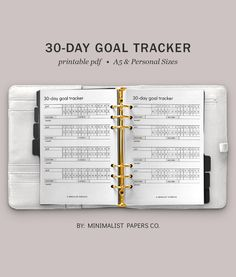 30 Day Goal Challenge and Habit Tracker, Routine Tracker and Goal Planner, Goal Tracking and Fitness Tracker Printable Minimalist Planner For Individual Who Loves Minimalistic And Clean Design, Instant Download!   ::: LIST DOWN YOUR :::  Goal for the month, Habit for the month, Habit you want to track, Start date, End Date and Mark off each day of the month   #challengetracker #habittracker #fitnessgoals #etsyplanner #habitprintable Printable Planner, Printables, Goal Tracking, Goals Planner, Papers Co, Clean Design, Fitness Tracker, 30 Day, Paper Size