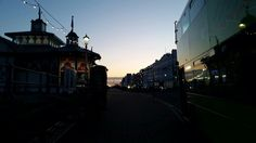 Eastbourne in East Sussex, East Sussex.  A stunning winter aftenoon.  It was 1° here!! .  This picture was taken while I was running through the sea front. Nothing better that be encouraged but a sunset like this! #daily #routine #eastbourne #uk #town #live #sunset #seafront #main #road