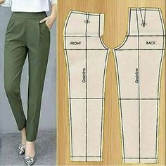 Sewing Clothes Women, Sewing Pants, Jumpsuit Pattern, Pants Pattern, Dress Sewing Patterns, Clothing Patterns, Costura Fashion, Designs For Dresses, How To Make Clothes