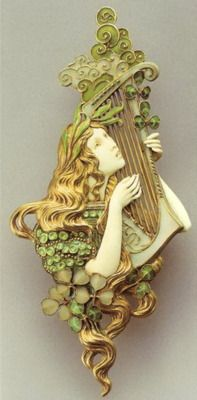 Art Nouveau jewelry. Manufacturer brothers Wever (Vever).