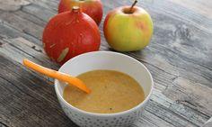 Der Nachmittagsbrei muss nicht immer nur aus Obst bestehen – man kann ihn auch mit etwas zusätzlichem Gemüse zubereiten, wie z.B. Karotten oder Kürbis.