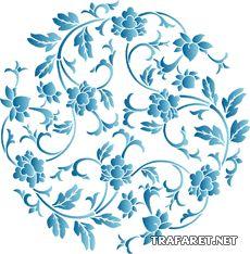 Kinesiska medaljong 1 • mall till väggar • återanvändbara schablon