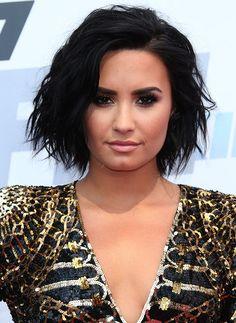 Demi Lovato in Balmain sequin dress