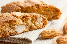 Uses grounds almonds and flour. A classic almond biscotti recipe, also known as cantuccini cookies. Almond Biscotti Recipe from Grandmothers Kitchen. Almond Biscotti Recipe, Cookie Recipes For Kids, Real Food Recipes, Dessert Recipes, Jewish Recipes, Sweet Recipes, Italian Cookies, Italian Desserts, Desert Recipes