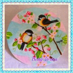 Pajaritos pintados a mano. #pintadoamano #dibujopintadoamano #pajaritos #pitadoamao #passarinho #passarinhos #passarinhospintadosamao