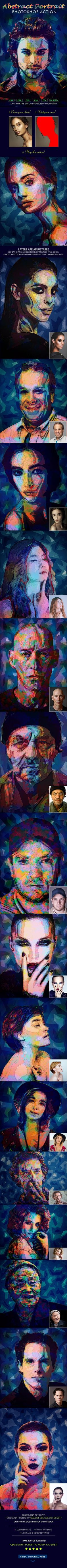 Abstract Portrait Photoshop Action - #Actions #Photoshop Download here: https://graphicriver.net/item/abstract-portrait-photoshop-action/20362867?ref=alena994