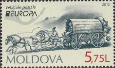 "europa stamps: Moldova 2013 - Europa 2013 ""The postman van""  celebrating PostEuropa's 20th anniversary - 1993-2013"