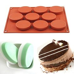 AYAMAYA 100 FoodGrade 9 Cavity Silicone Cake Mold Oval Baking Pan Biscuit Mold Soap Mold -- Read more at the affiliate link Amazon.com on image.