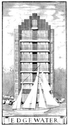 Edgewater Apartments, 6 Billyard Avenue, Elizabeth Bay (1937).