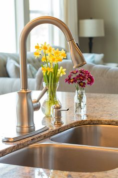 Moen Faucet - I have absolutely loved this new faucet! Love that it's spot resistant and the retractable hose.