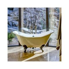 """CheviotProducts Regency 68"""" x 31"""" Soaking Bathtub with 6"""" Drilling Feet Finish: Chrome, Color: White Interior with White Exterior"""