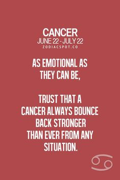 Cancers are tough