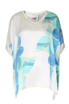 IVI collection Oversize Seidentunika Palmleaf V-Neck bei myClassico - Premium Fashion Online Shop
