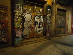 Barcelona, at night