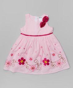 This Pink & Red Flower Dress - Toddler & Girls is perfect! #zulilyfinds