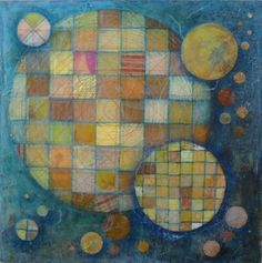 Patchwork Universe-Mixed Media painting on board by StudioPiccolo