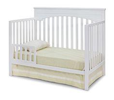 Delta Children Layla 4-in-1 Crib, White  http://www.babystoreshop.com/delta-children-layla-4-in-1-crib-white/