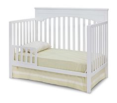 Delta Children Layla 4-in-1 Crib, White  http://www.babystoreshop.com/delta-children-layla-4-in-1-crib-white/