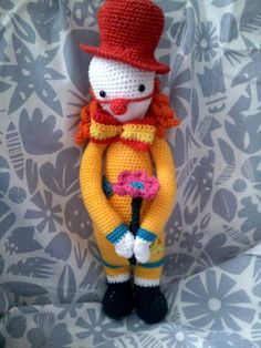 Clown mod made by Brigitte Sch. / based on a lalylala crochet pattern