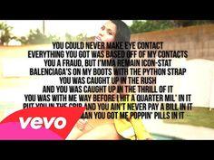 Nicki Minaj - Bed Of Lies ft. Skylar Grey (Official - Lyrics Video) LOVE IT