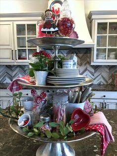Velvet Pumpkins, Tiered Stand, Metal Trays, Lanterns Decor, Tray Decor, Valentine Decorations, Be My Valentine, Fourth Of July, Seasonal Decor