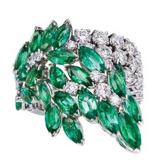Emerald and diamond ring by Piaget