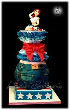THE CAKE ART OF DENIM - by Linda Bellavia Cake Art @ CakesDecor.com - cake decorating website