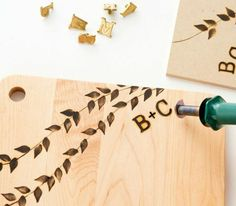 DESIGN*SPONGE Cheese Board Kit (wood burning kit - I've always wanted to do this!)