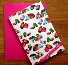 Fun Hip Preppy Colorful Give A Girl Rocks Greeting Card for Girls, $4.50