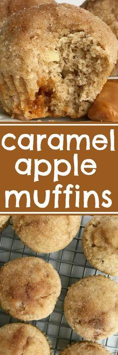 Caramel Apple Muffins. #fall #Halloween #Thanksgiving