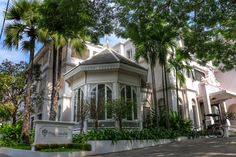 Ping Nakara Boutique Hotel consists of just 19 guest rooms in a beautiful, white Lanna Colonial-style mansion that feels like someone's very stylish home.