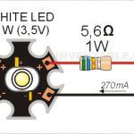 043 - Encender un led blanco con Electronics Engineering Projects, Electronic Circuit Projects, Electronic Engineering, Diy Electronics, Electrical Engineering, Led Projects, Arduino Projects, Radio Design, Diy Tech