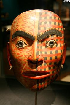 Tsimshian mask (19th C) from British Columbia at Fowler Museum. Los Angeles, CA.