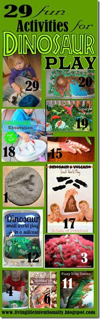 Dinosaur activities and sensory