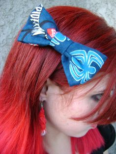 Spiderman Hair Bow by Th1rte3nsCloset on Etsy, $5.00
