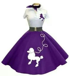 Purple n white poodle skirt