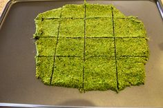 Crisp 'n Tasty Green Juice Pulp Crackers