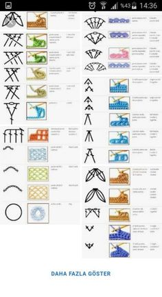 Best 12 best 12 100 crochet symbols and how it looks after crocheting words are in spanish and it is a jpeg so it cannot be translated – skillofking com - AmigurumiHouse Puff Stitch Crochet, Crochet Stitches Chart, Crochet Diagram, Crochet Basics, Crochet Motif, Crochet Hooks, Crochet Patterns, Crochet Edgings, Diy Crafts Crochet