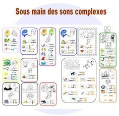 Sous main des sons complexes Plus French Teacher, Teaching French, Teaching English, Montessori, French Kids, Core French, French Classroom, Reading Games, French Lessons
