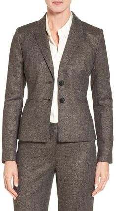 Classiques Entier ® Two-Button Tweed Suit Jacket