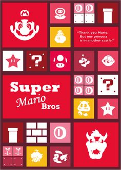 Super Mario Poster by Grant Coombs, via Behance