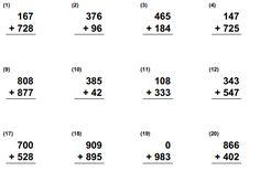 Cuaderno de Calculos Matematicos de Primaria para Imprimir