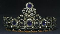 A sapphire tiara that started life in Russia, and worked it's way via marriages to the Danish Court