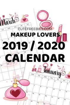 Free 2020 Calendar Printable Planner PDF (My Ultimate List) - Printables and Inspirations Cute Calendar, Kids Calendar, Calendar Pages, Planner Pages, Free Calender, Weekly Calendar, Calendar Ideas, 2019 Calendar, Monthly Planner Printable