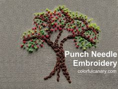 newbie trying out needle punch- Learning Punch Needle Embroidery & Supplies Haul - YouTube