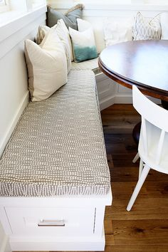 Banquette Cushion Fabric Ideas. Banquette Cushion. Banquette Cushion Fabric. #BanquetteCushion #BanquetteCushionFabric Millhaven Homes.