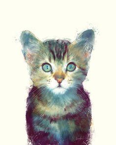Cat // Aware Art Print by Amy Hamilton | Society6