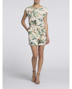 Botanical print dress | Dresses | Woman Clothing at Scotch & Soda