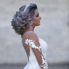 Creative Hairstyles, Elegant Hairstyles, Bride Hairstyles, Hairstyles Haircuts, Headband Hairstyles, Long Hair Wedding Styles, Wedding Updo, Pageant Hair, Prom Hair
