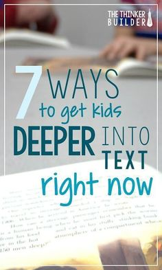 Check out these seven techniques to help students think more deeply about their reading. I like how these ideas don't require a bunch of extra tools or resources. I can easily implement them at any point in my instruction.